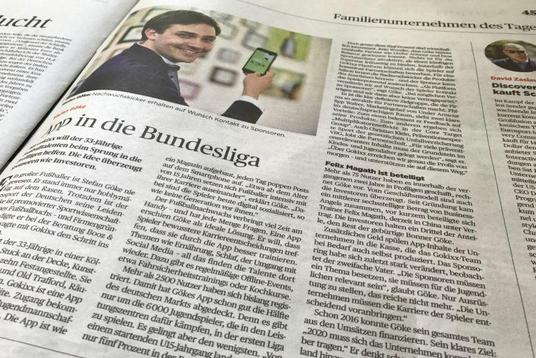 Dr. Stefan Göke im Handelsblatt